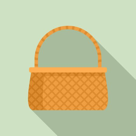 Basketry icon, flat style