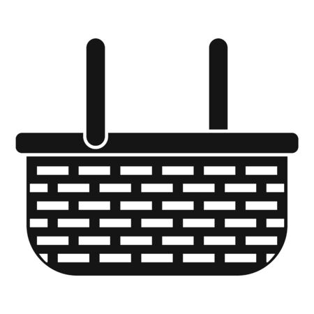 Wicker straw icon, simple style