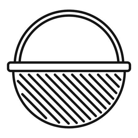 Container wicker icon, outline style