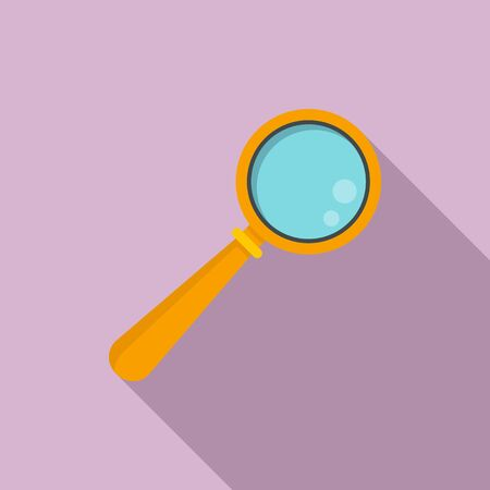 Repair magnifier icon, flat style