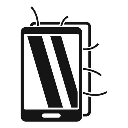 Broken smartphone icon, simple style