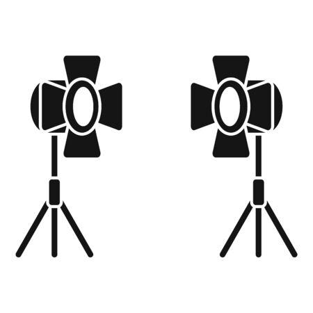 Movie spotlight icon, simple style