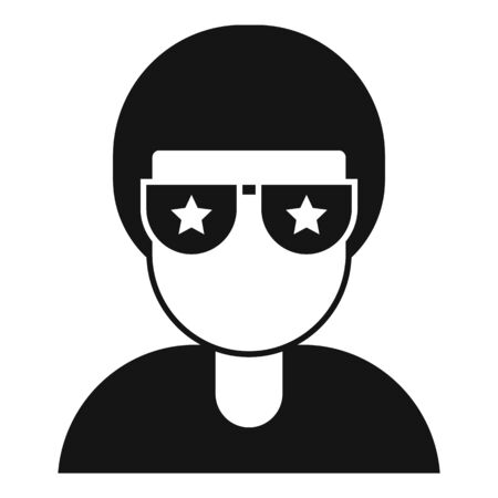 Famous person icon, simple style