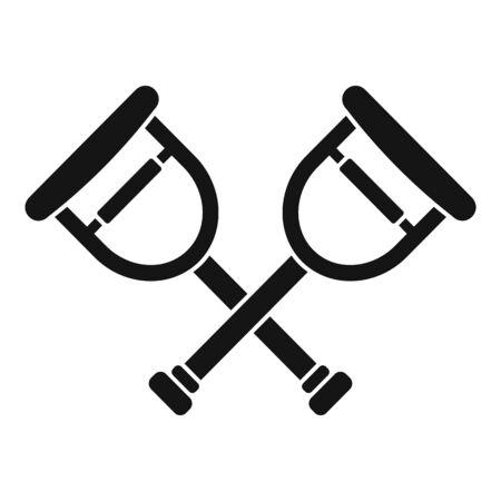 Wood crutches icon, simple style Ilustracja