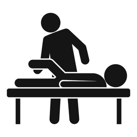 Chiropractor icon. Simple illustration of chiropractor vector icon for web design isolated on white background