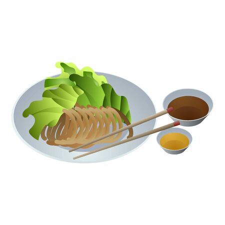 Vietnam food icon. Cartoon of Vietnam food vector icon for web design isolated on white background Illustration