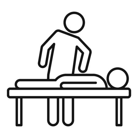Chiropractor treatment icon, outline style