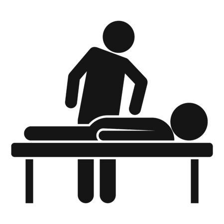 Chiropractor treatment icon, simple style Illustration