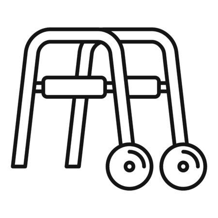 Metal walker icon, outline style