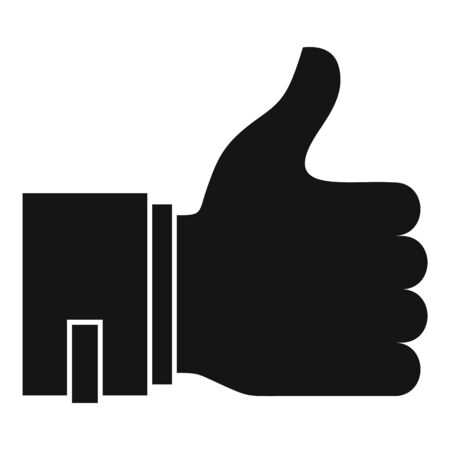 Customer thumb up icon. Simple illustration of customer thumb up vector icon for web design isolated on white background