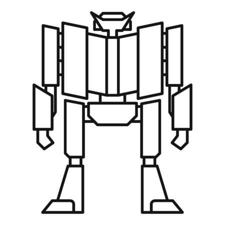 Super robot transformer icon. Outline super robot transformer vector icon for web design isolated on white background