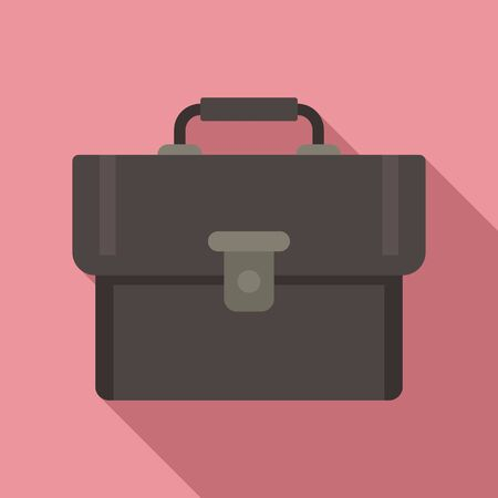 Leather bag icon. Flat illustration of leather bag vector icon for web design
