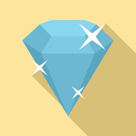 Diamond icon. Flat illustration of diamond vector icon for web design