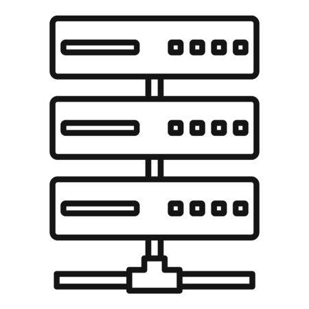 Server rack icon, outline style