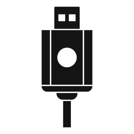 Usb cable icon, simple style