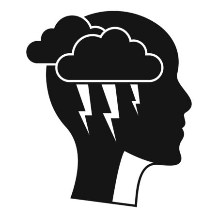 Brainstorming icon, simple style