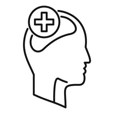 Mental disorder icon, outline style