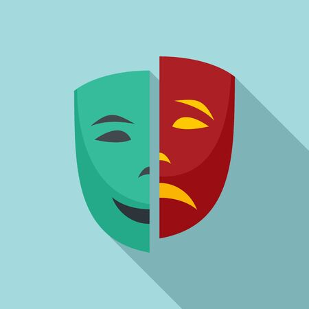 Personality disorder icon. Flat illustration of personality disorder vector icon for web design