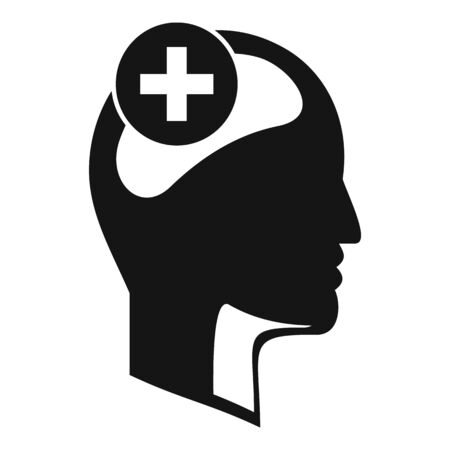 Mental disorder icon, simple style Illustration