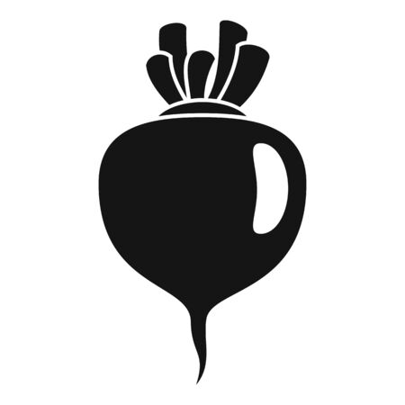 Beet icon, simple style