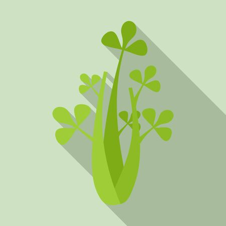 Celery leaves icon, flat style