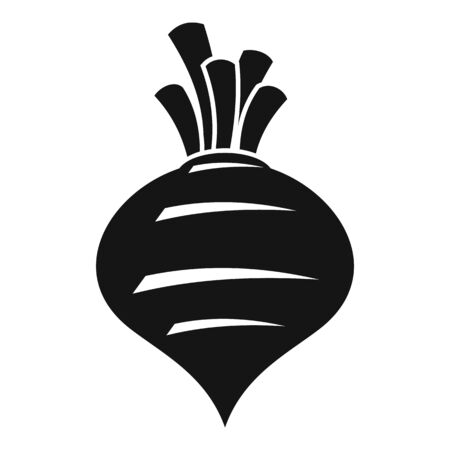 Diet beet icon, simple style