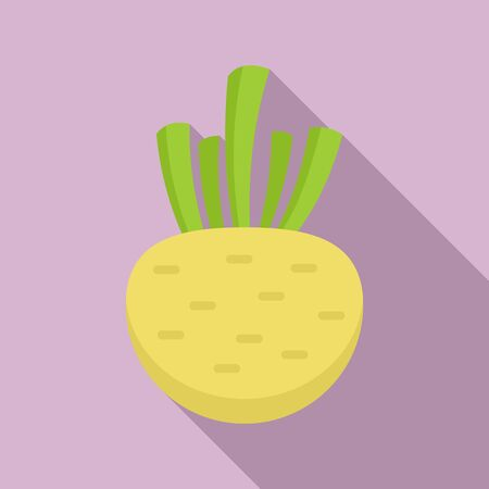 Celery root icon, flat style