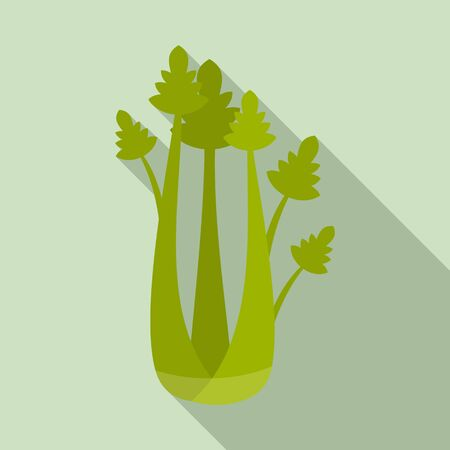 Eat celery icon. Flat illustration of eat celery vector icon for web design