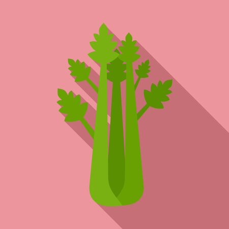 Natural celery icon. Flat illustration of natural celery vector icon for web design  イラスト・ベクター素材