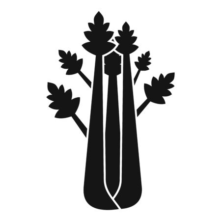 Natural celery icon, simple style