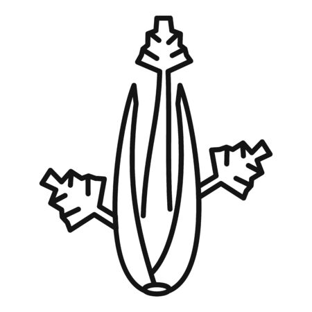 Celery leaves icon, outline style