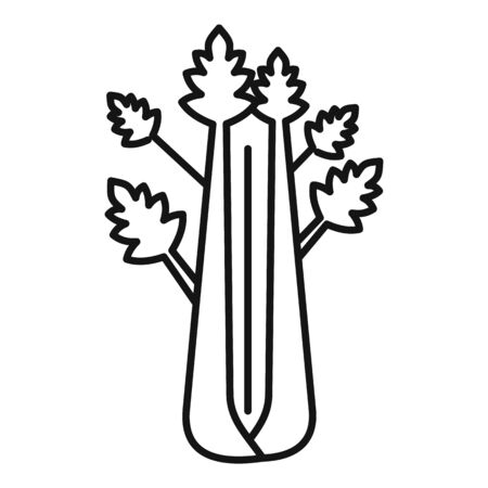 Detox celery icon, outline style