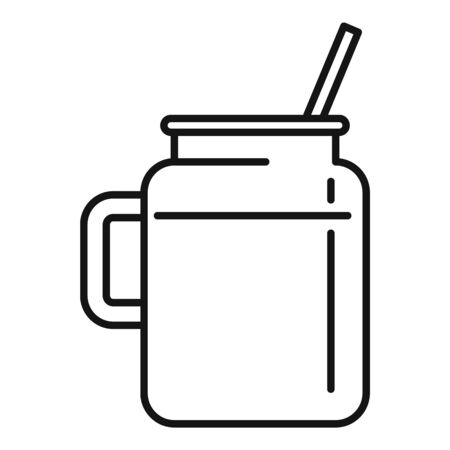 Celery smoothie icon, outline style