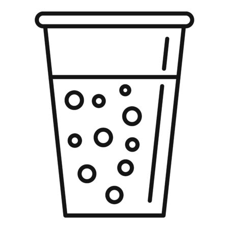 Celery juice glass icon, outline style