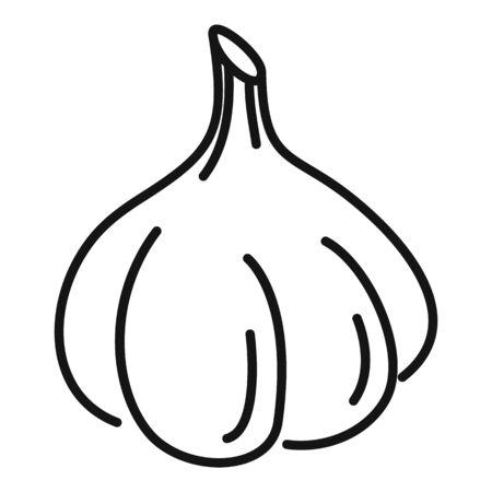 Bulb garlic icon, outline style Illusztráció