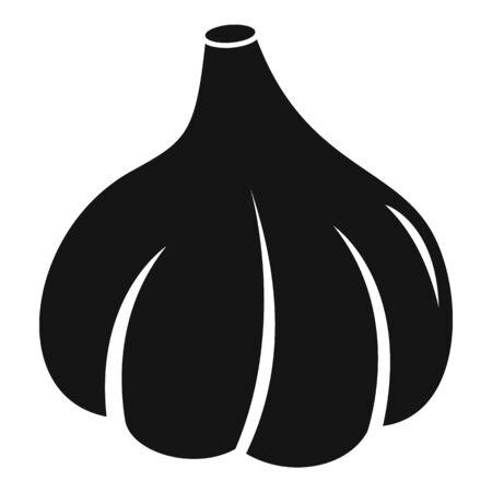 Farm garlic icon, simple style