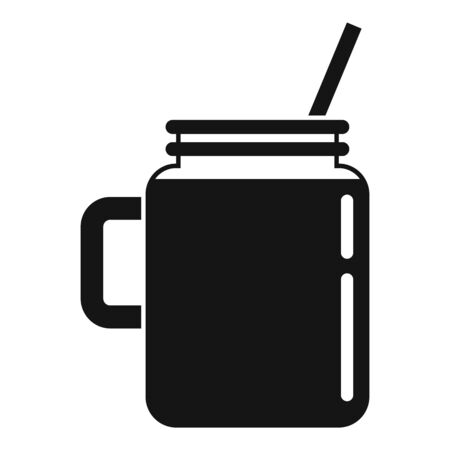 Celery smoothie icon, simple style