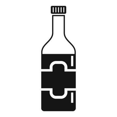 Culinary condiment bottle icon, simple style