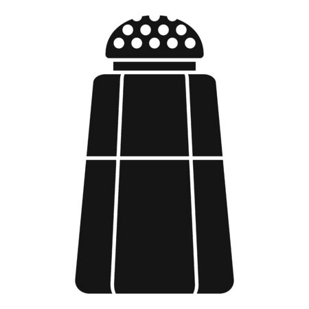 Kitchen salt bottle icon, simple style