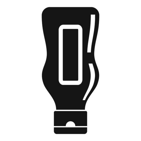 Mustard bottle icon, simple style