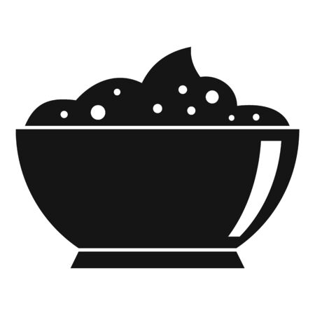Eco condiment bowl icon, simple style