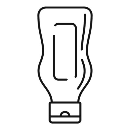 Mustard bottle icon, outline style