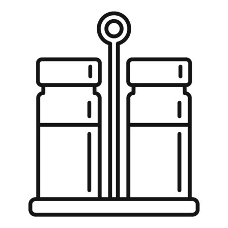Salt pepper container stand icon, outline style