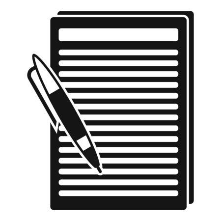 Essay edit icon. Simple illustration of essay edit vector icon for web design isolated on white background 일러스트