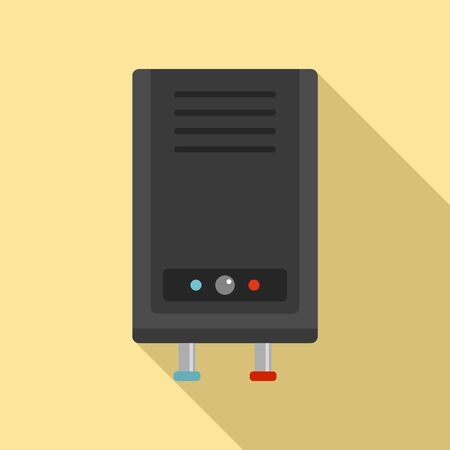 Thermal boiler icon. Flat illustration of thermal boiler vector icon for web design