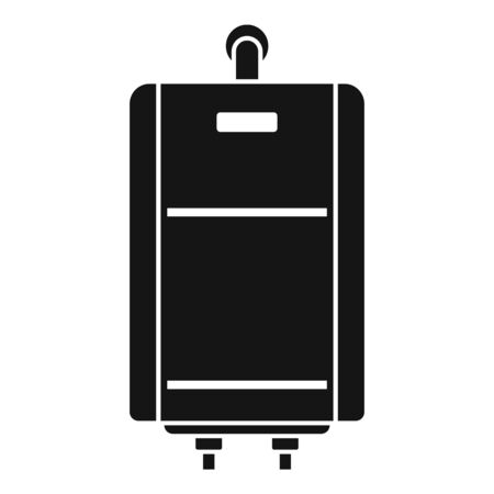 Central boiler icon. Simple illustration of central boiler vector icon for web design isolated on white background