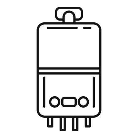 Domestic boiler icon, outline style
