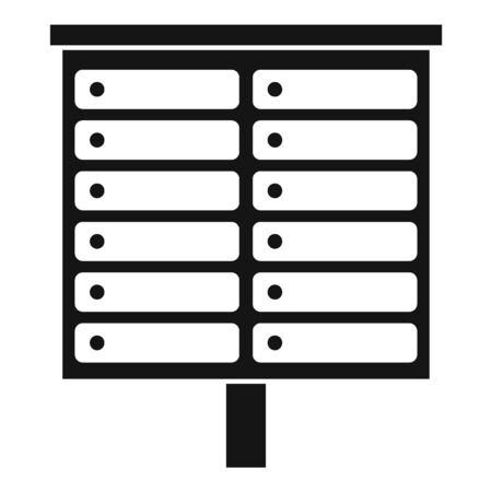Apartment mailbox icon, simple style