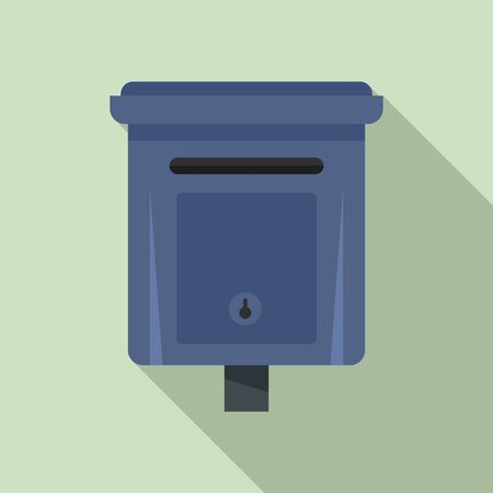 Message mailbox icon. Flat illustration of message mailbox vector icon for web design