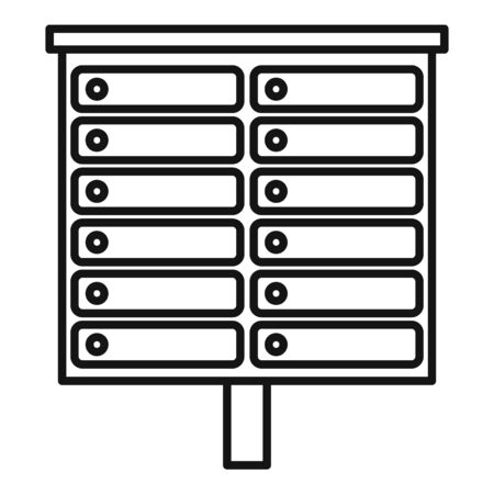 Apartment mailbox icon, outline style Stock fotó - 143572551